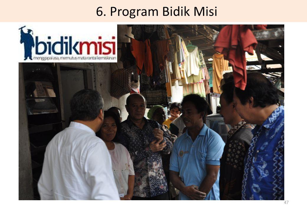 6. Program Bidik Misi