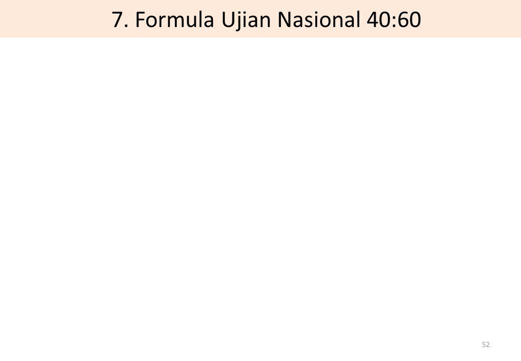 7. Formula Ujian Nasional 40:60