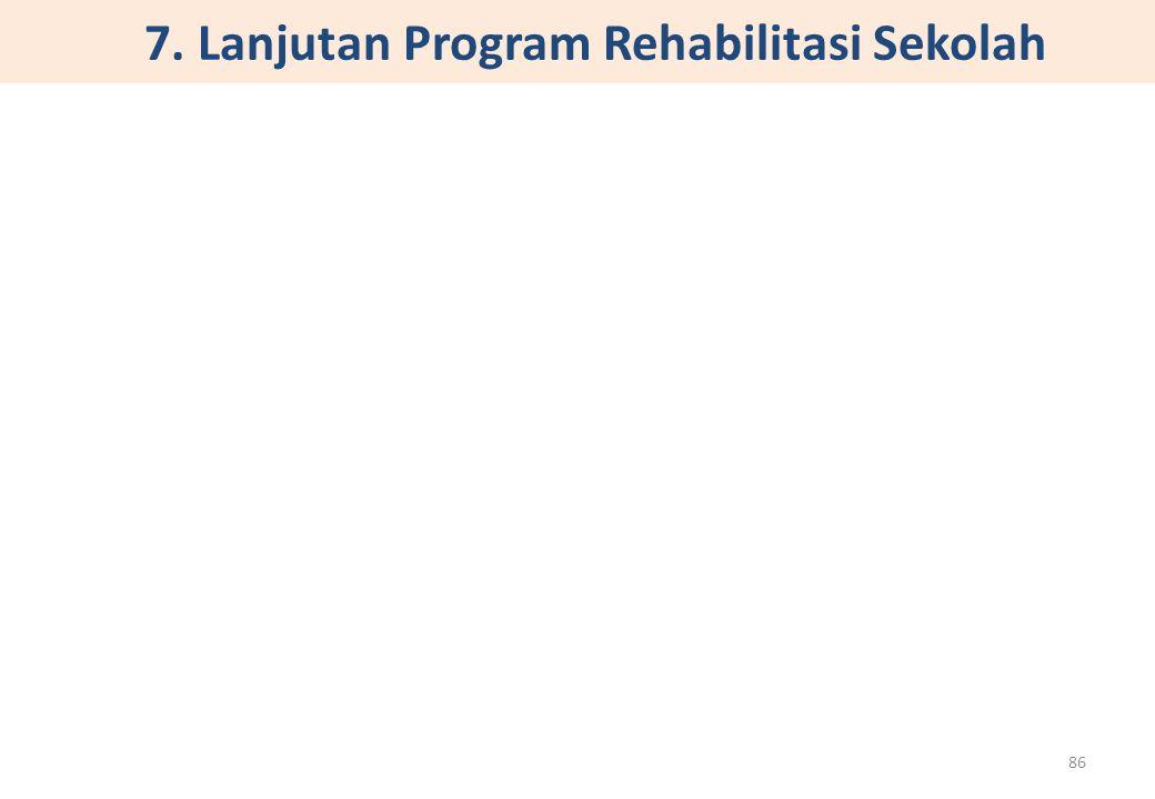 7. Lanjutan Program Rehabilitasi Sekolah