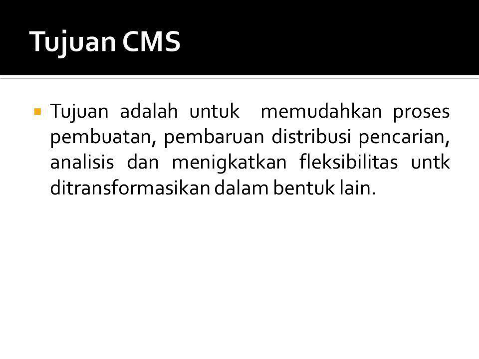 Tujuan CMS