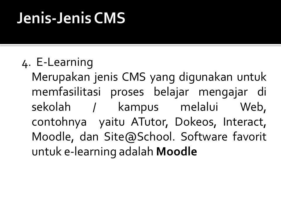 Jenis-Jenis CMS 4. E-Learning
