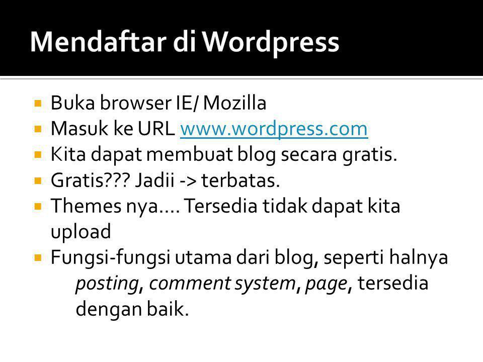 Mendaftar di Wordpress