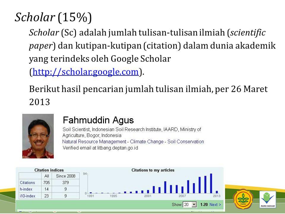 Scholar (15%)