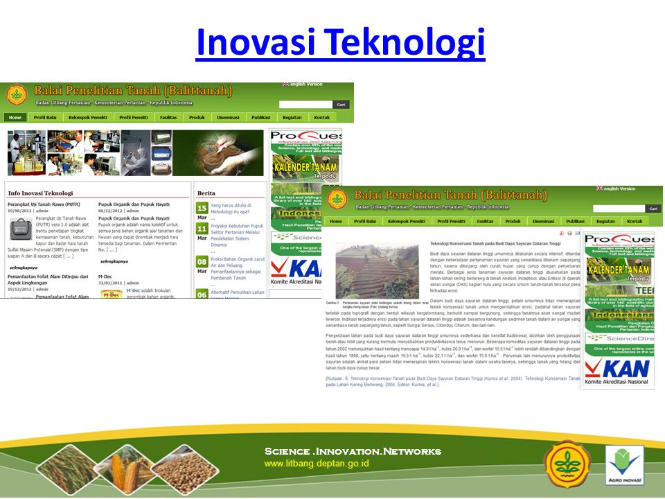Inovasi Teknologi Science .Innovation.Networks
