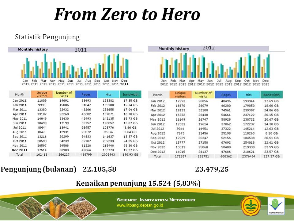 From Zero to Hero Statistik Pengunjung