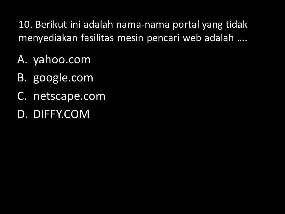 yahoo.com google.com netscape.com DIFFY.COM