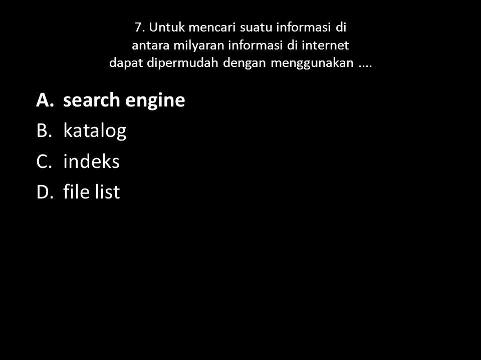 search engine katalog indeks file list
