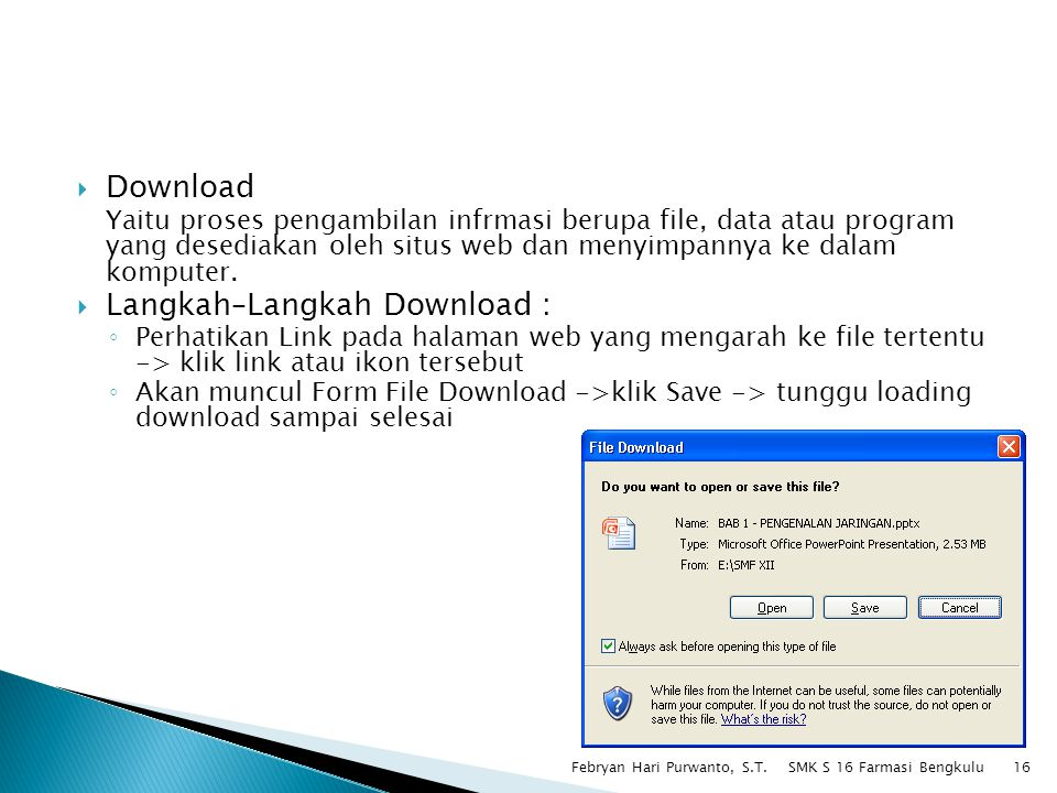 Langkah–Langkah Download :
