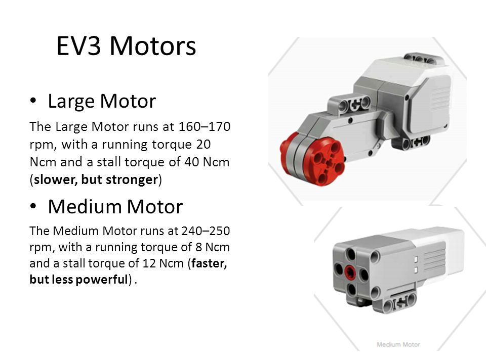 EV3 Motors Large Motor Medium Motor