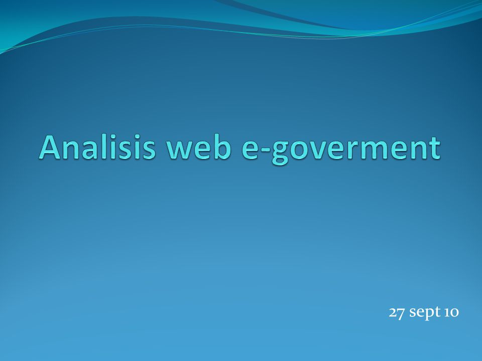 Analisis web e-goverment