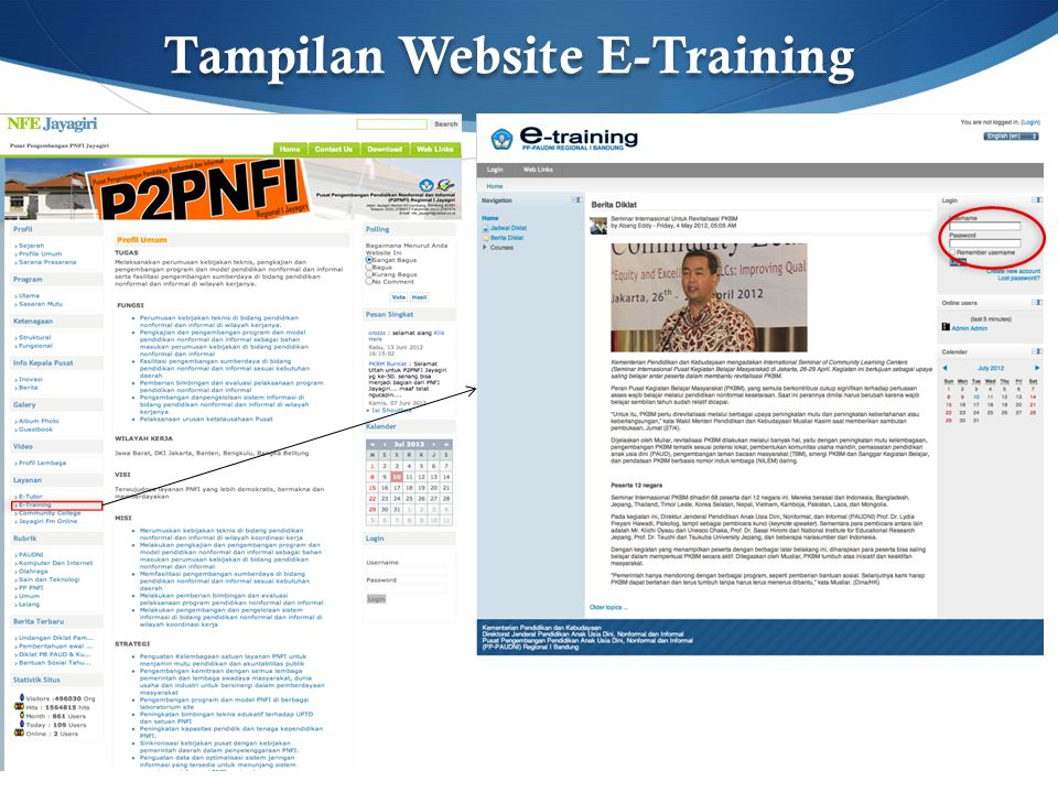 Tampilan Website E-Training