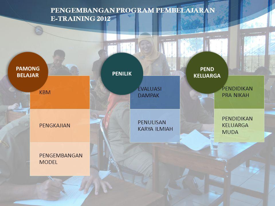 PENGEMBANGAN PROGRAM PEMBELAJARAN E-TRAINING 2012
