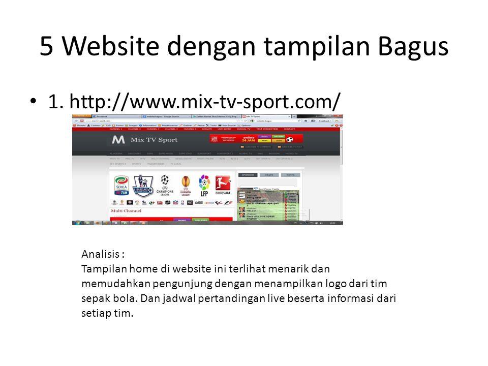 5 Website dengan tampilan Bagus