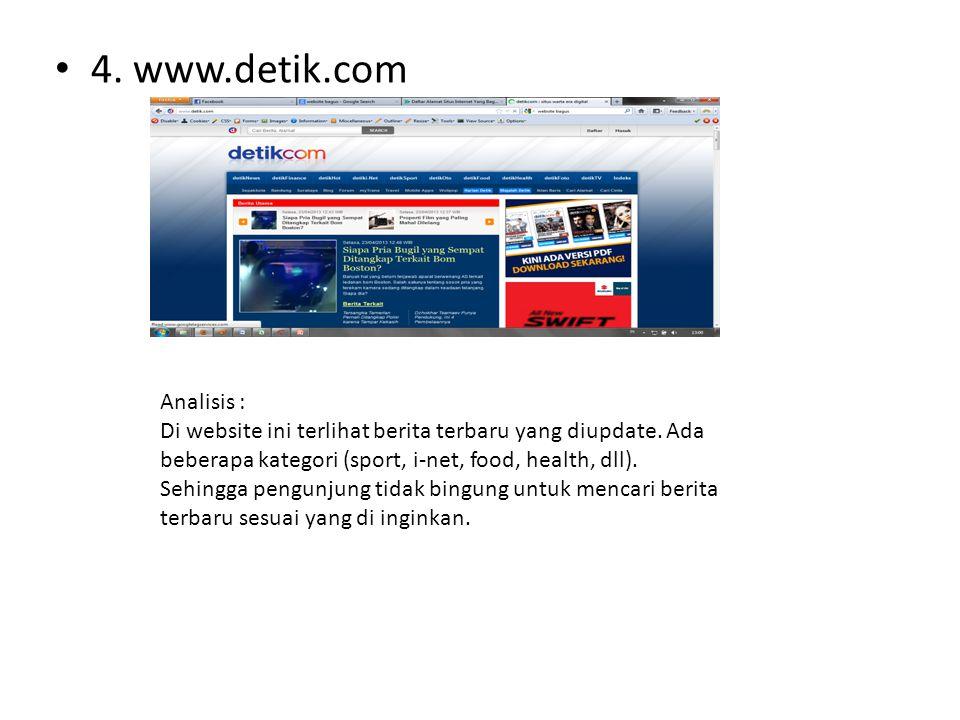 4. www.detik.com Analisis :