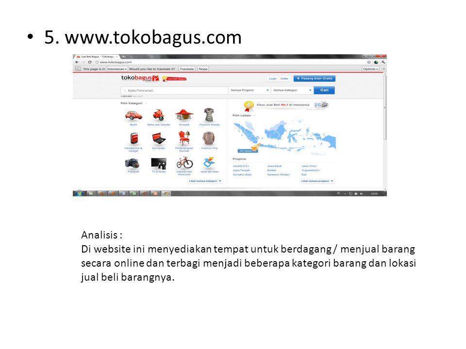 5. www.tokobagus.com Analisis :