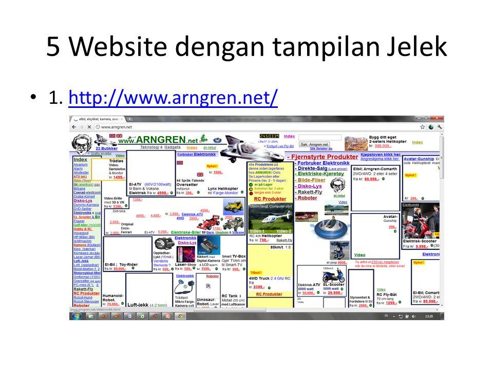 5 Website dengan tampilan Jelek