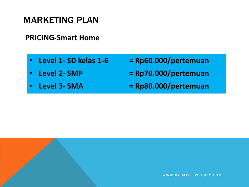 Marketing plan PRICING-Smart Home