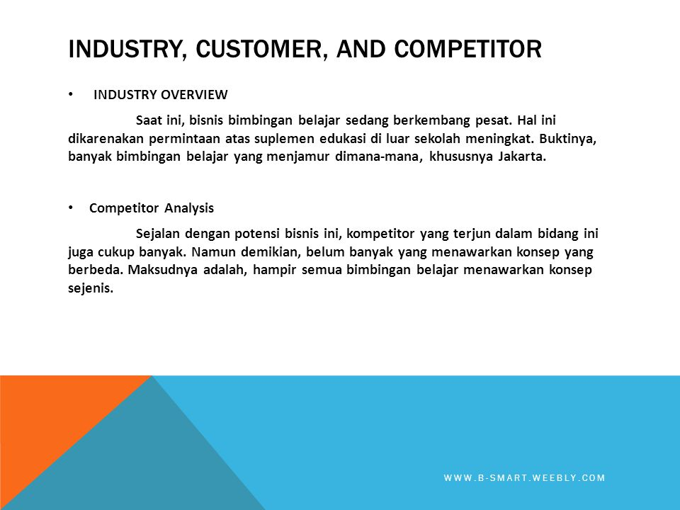 Industry, Customer, and competitor