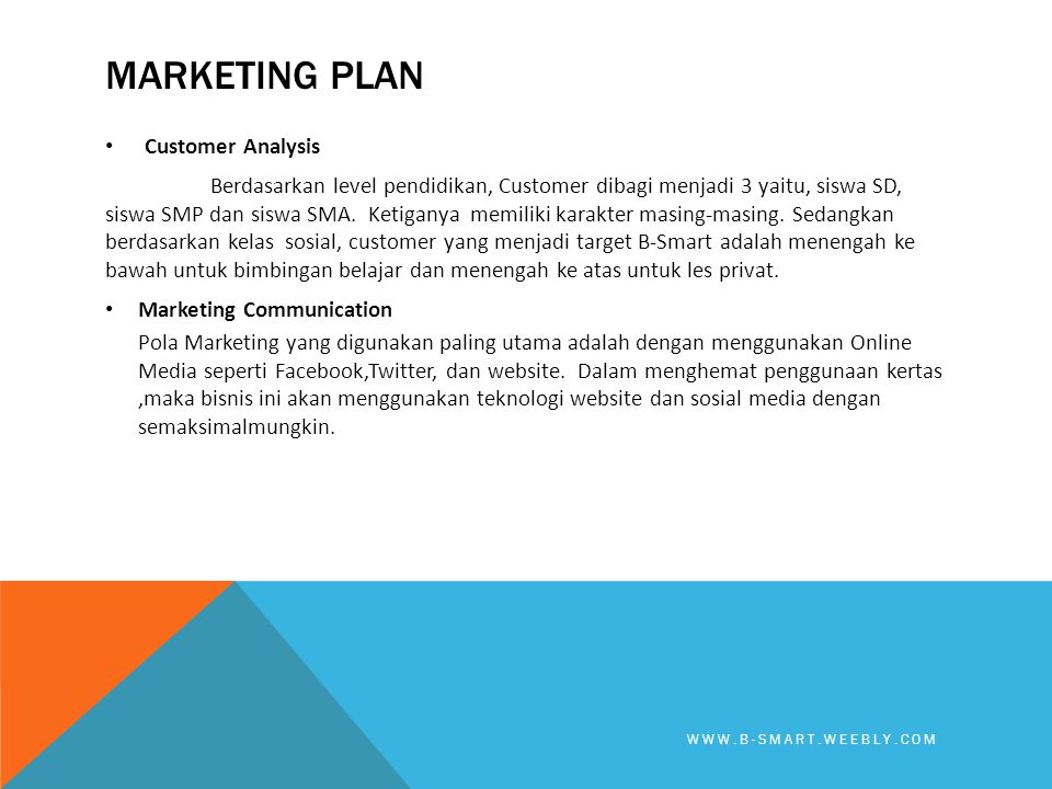 Marketing plan Customer Analysis