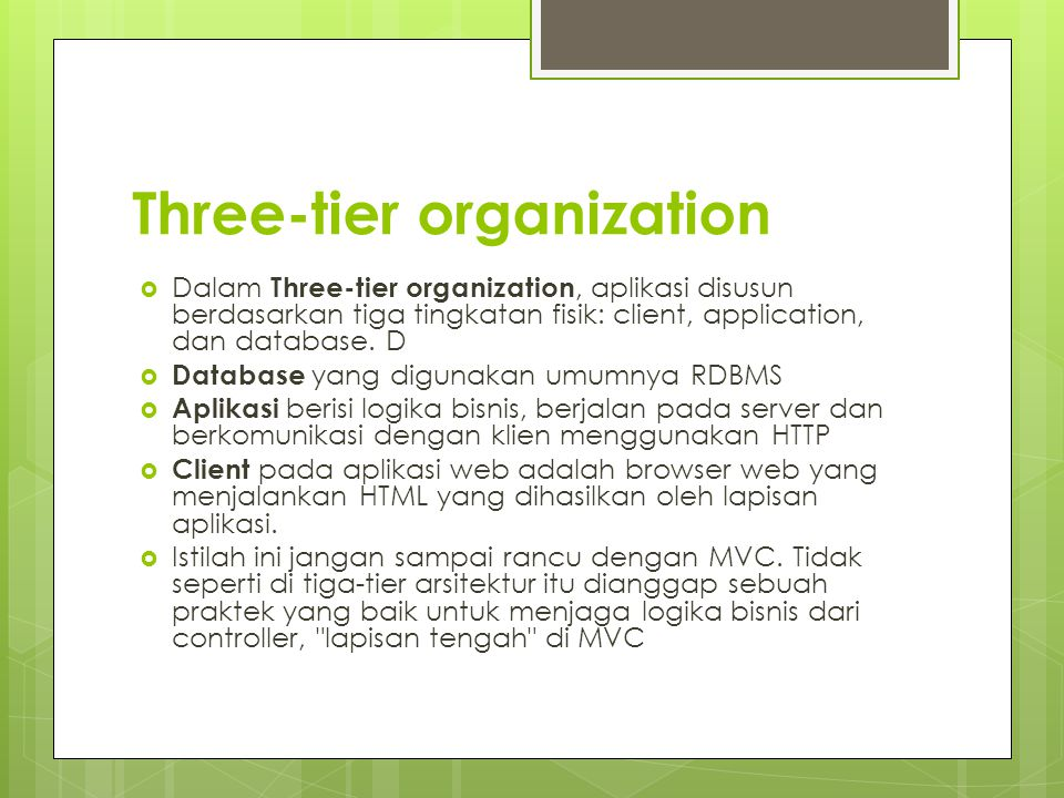 Three-tier organization