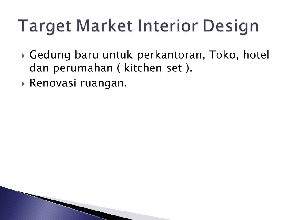 Target Market Interior Design