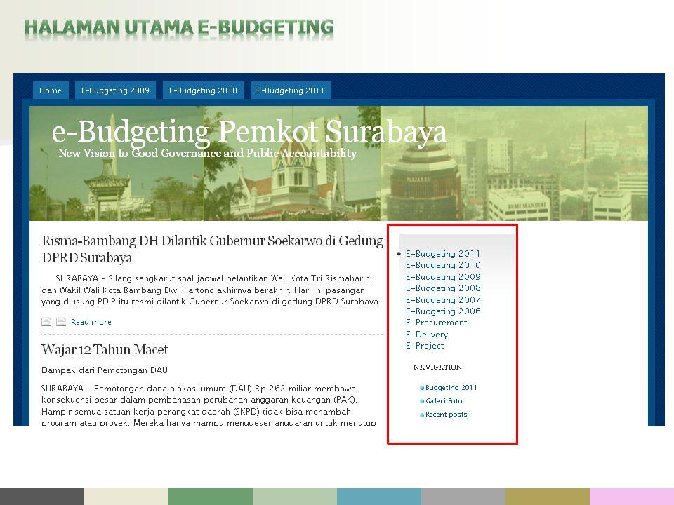 HALAMAN UTAMA E-BUDGETING