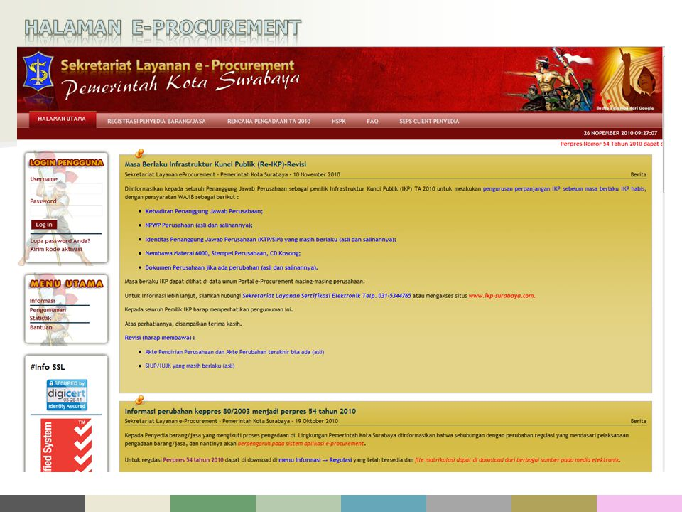 HALAMAN E-PROCUREMENT
