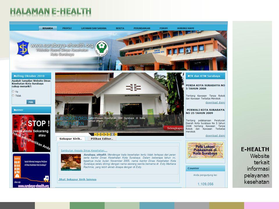 HALAMAN E-HEALTH E-HEALTH