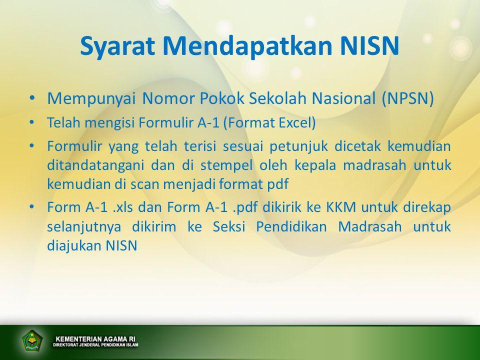 Syarat Mendapatkan NISN