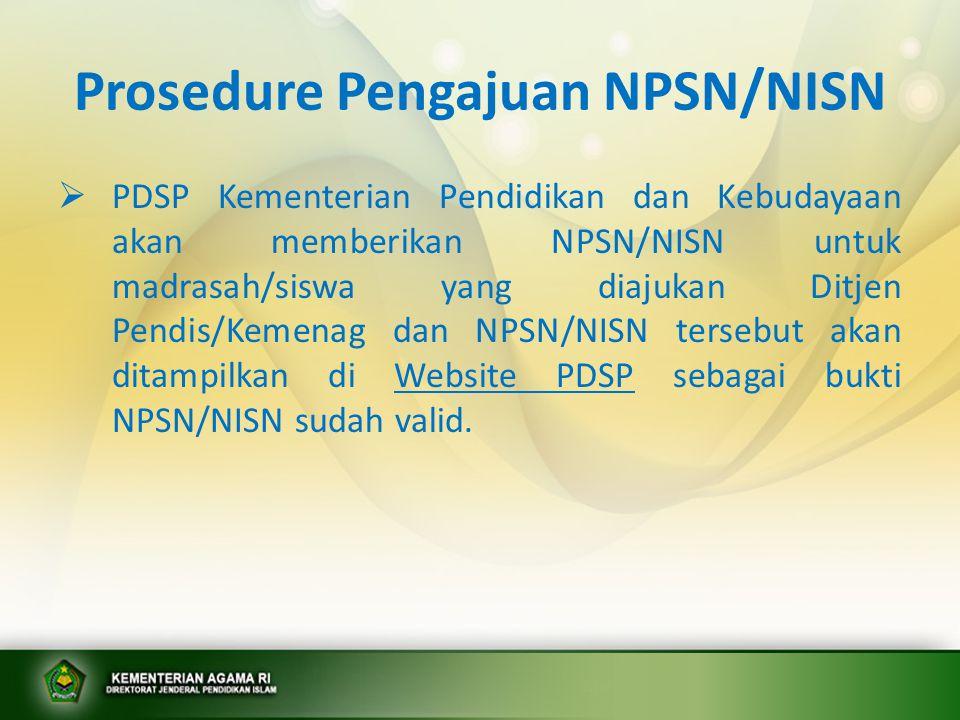 Prosedure Pengajuan NPSN/NISN