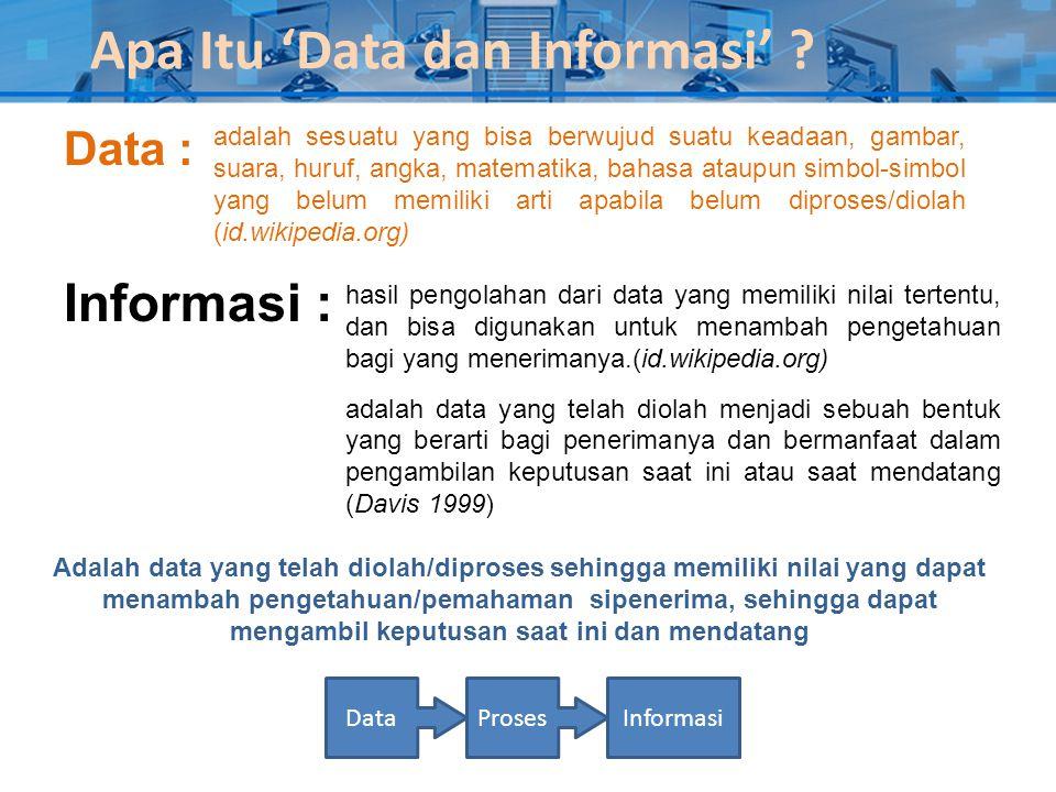 Apa Itu 'Data dan Informasi'
