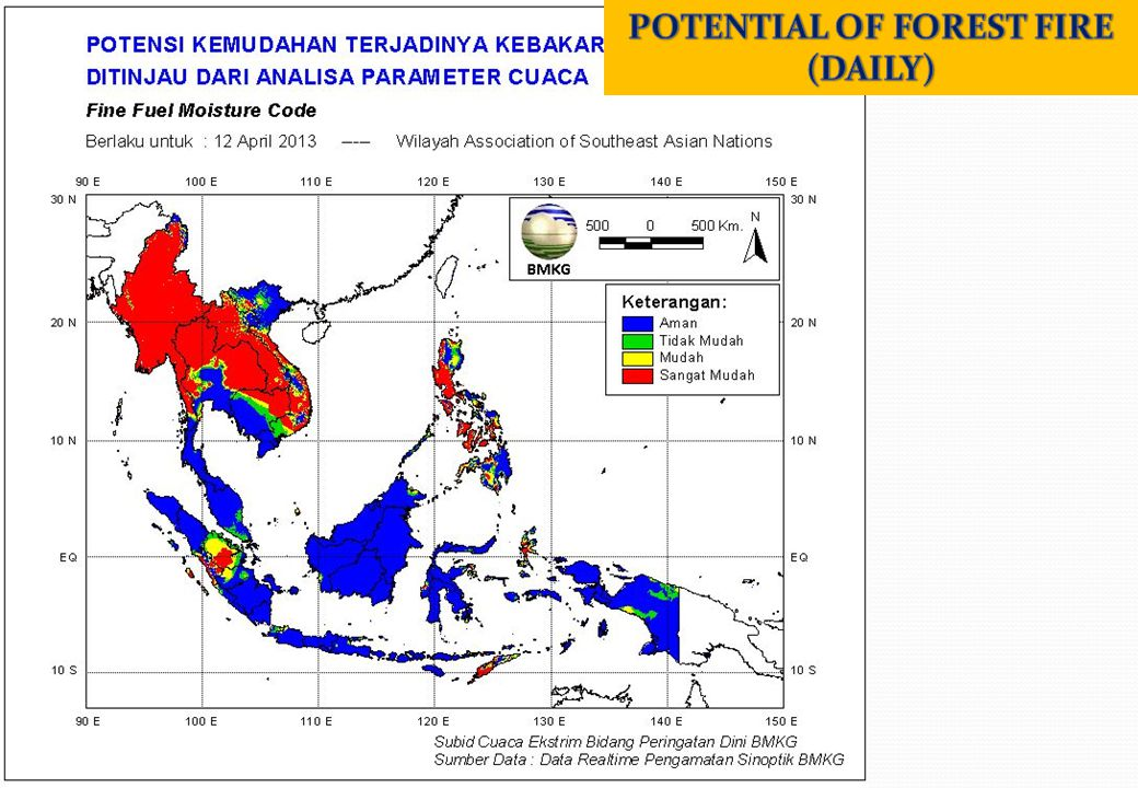 POTENTIAL OF FOREST FIRE (DAILY)