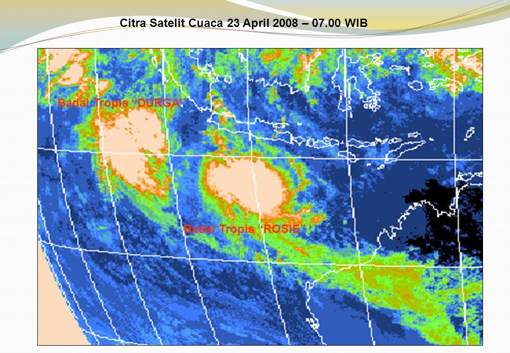 Citra Satelit Cuaca 23 April 2008 – 07.00 WIB