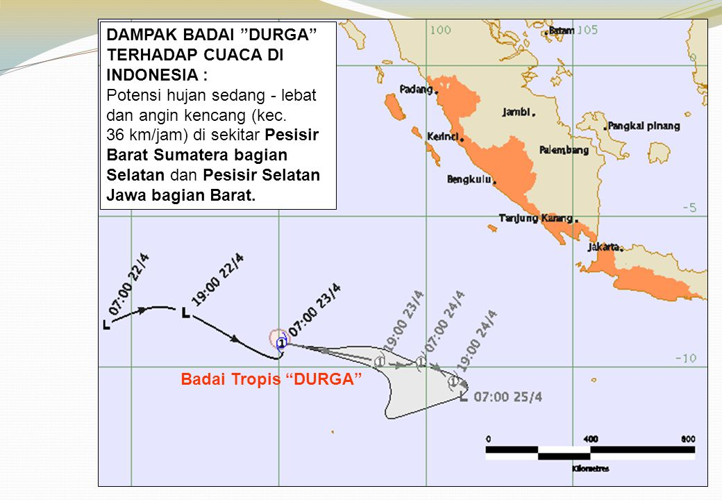 Badai Tropis DURGA DAMPAK BADAI DURGA TERHADAP CUACA DI INDONESIA :