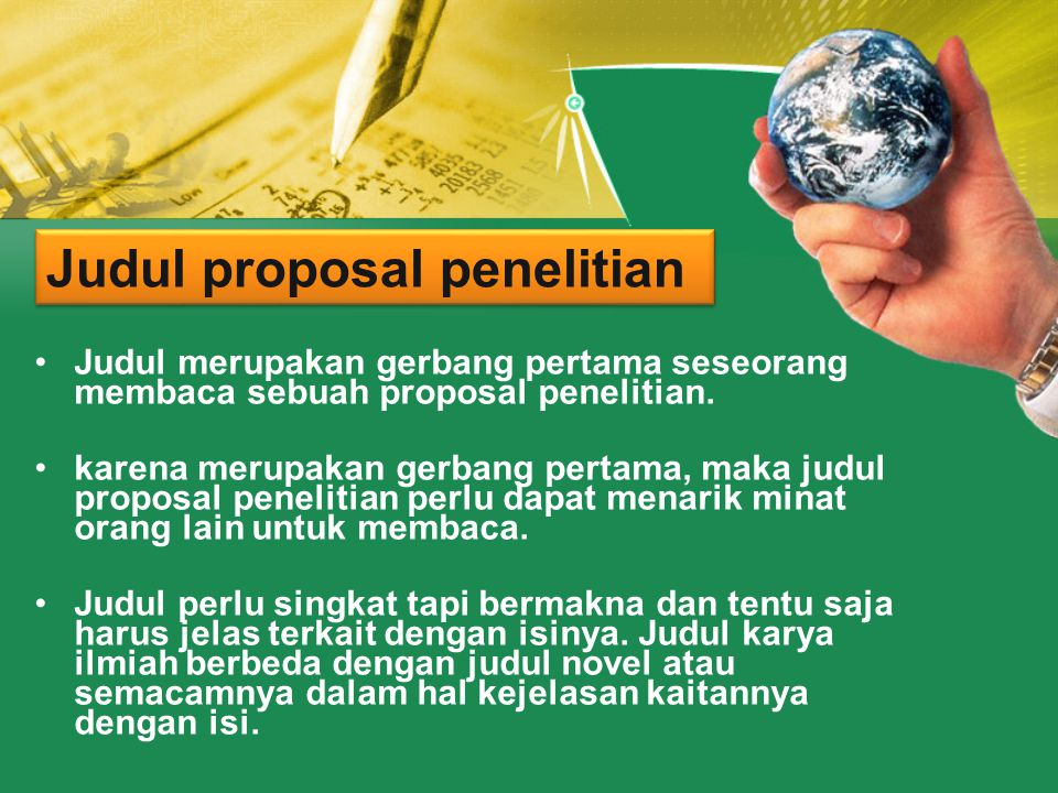 Judul proposal penelitian