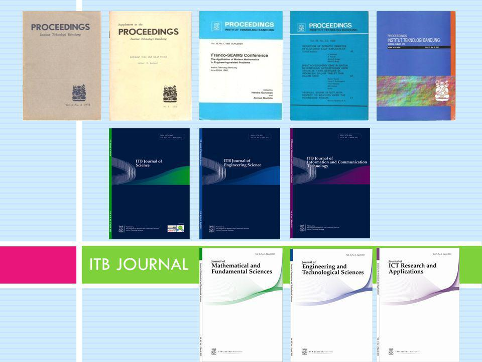 ITB JOURNAL