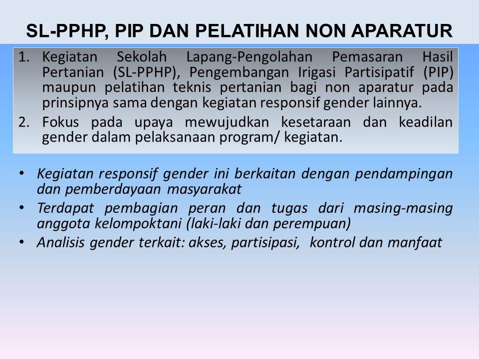 SL-PPHP, PIP DAN PELATIHAN NON APARATUR