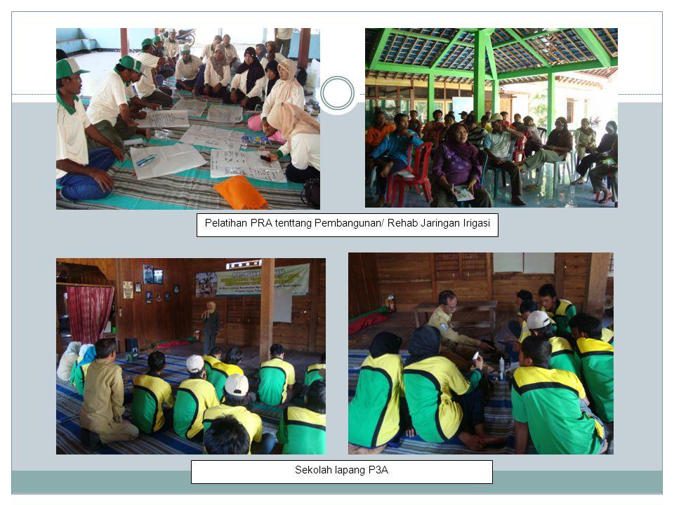 Pelatihan PRA tenttang Pembangunan/ Rehab Jaringan Irigasi