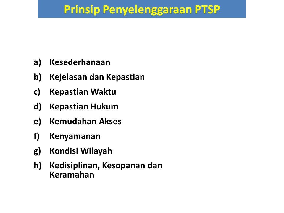 Prinsip Penyelenggaraan PTSP