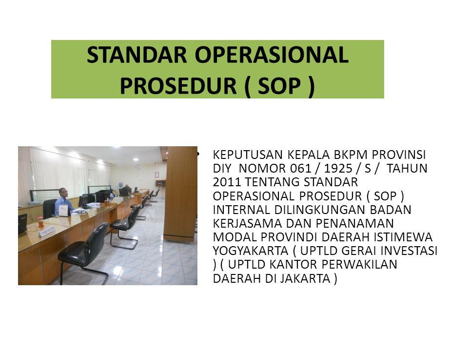 STANDAR OPERASIONAL PROSEDUR ( SOP )