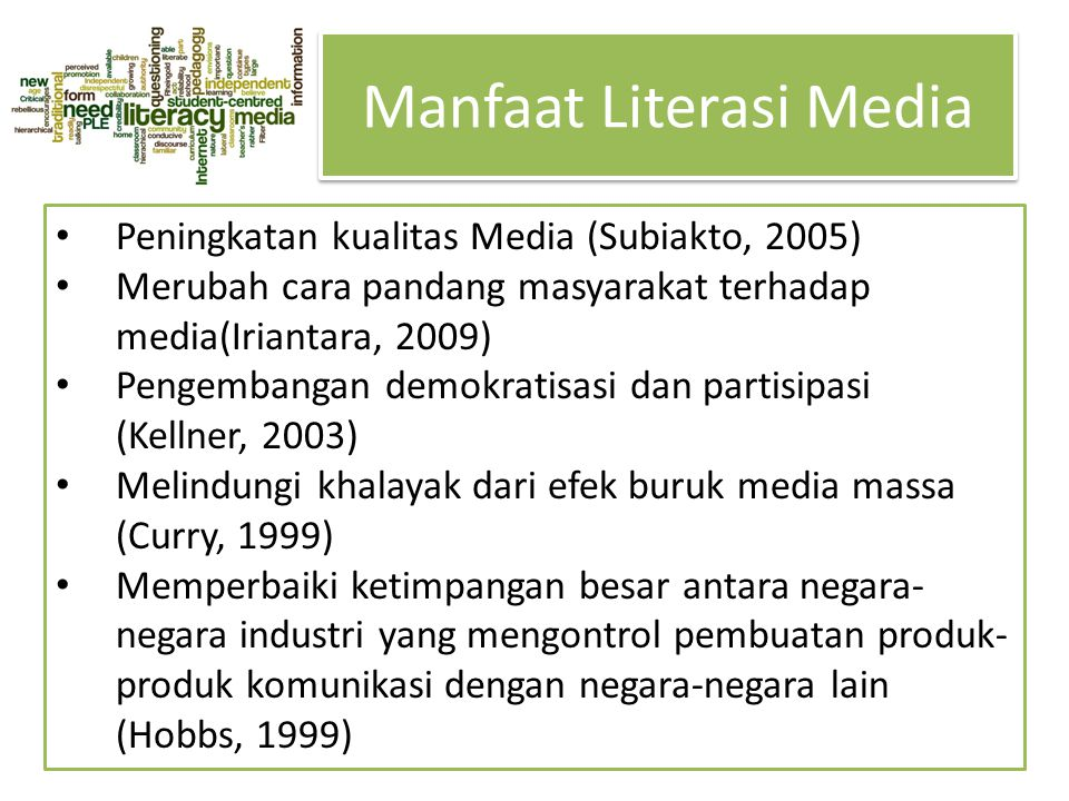 Manfaat Literasi Media