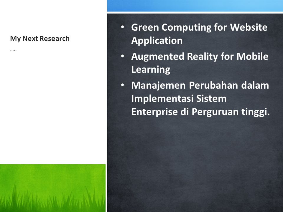 Green Computing for Website Application