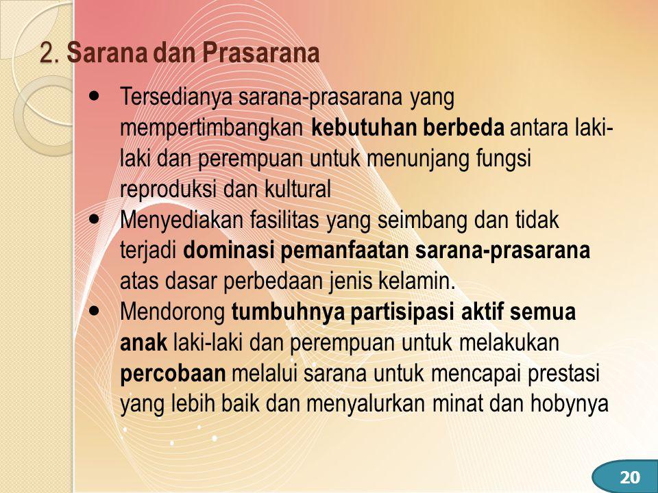 2. Sarana dan Prasarana