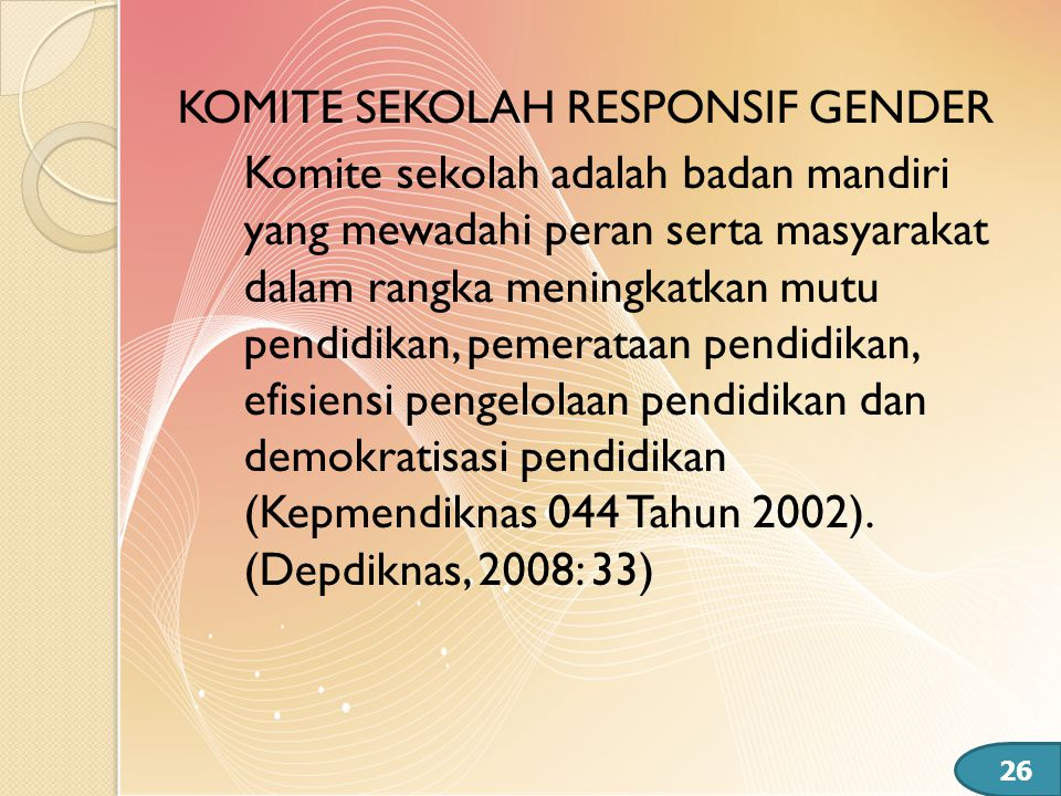 KOMITE SEKOLAH RESPONSIF GENDER