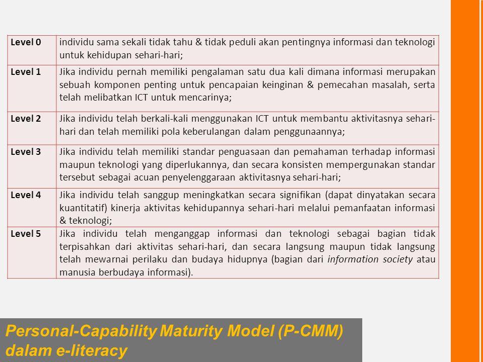 Personal-Capability Maturity Model (P-CMM) dalam e-literacy