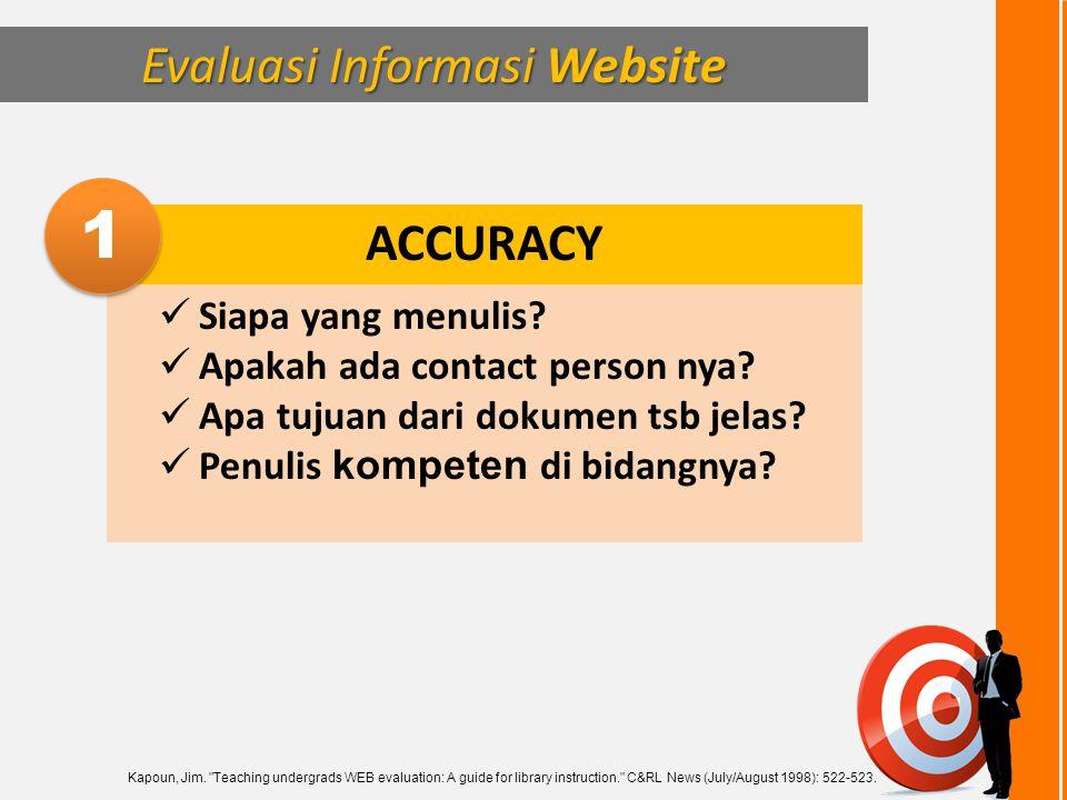 Evaluasi Informasi Website