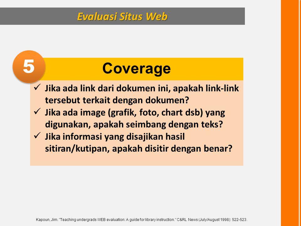 5 Coverage Evaluasi Situs Web