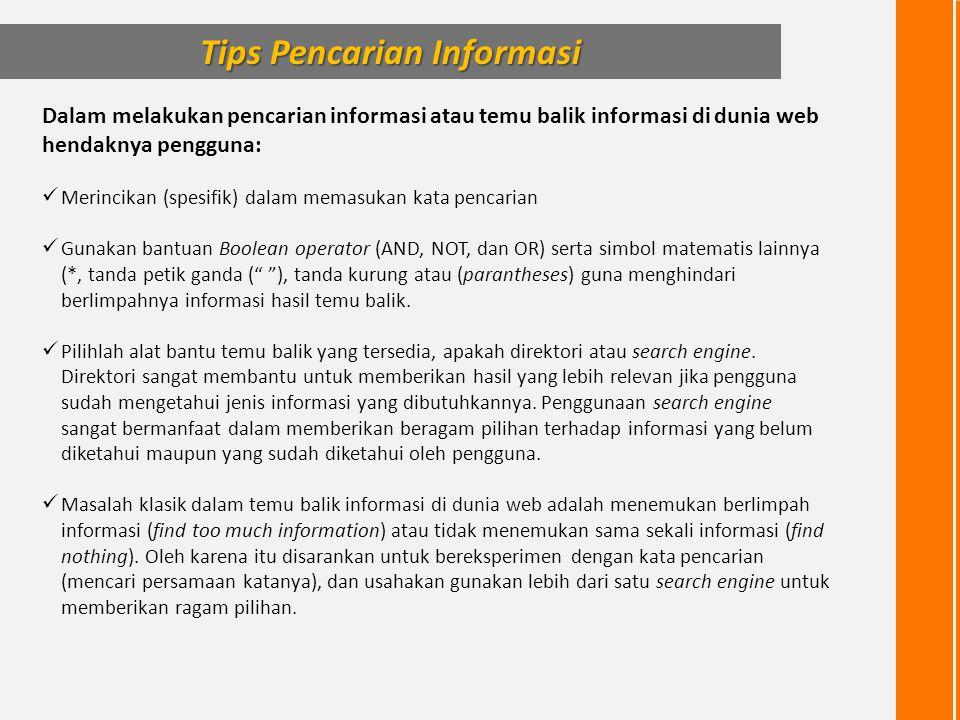 Tips Pencarian Informasi
