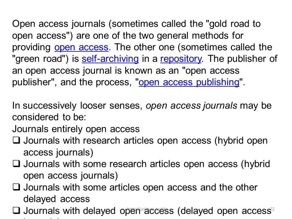 Journals entirely open access
