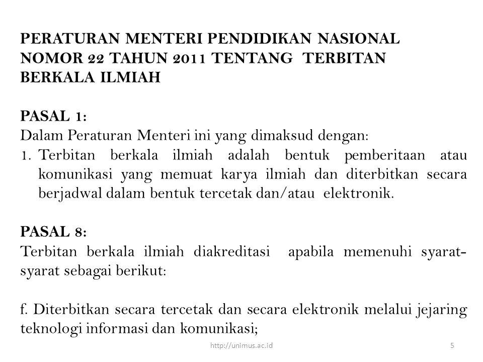 Dalam Peraturan Menteri ini yang dimaksud dengan: